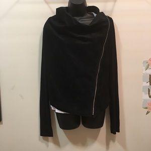 Rachel by Rachel Roy leather/ knit Moto jacket M
